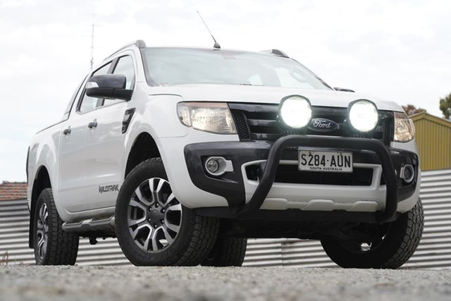 Used Ford Ranger PX Wildtrak Double Cab Clare, 2013 Ford Ranger PX Wildtrak Double Cab White 6 Speed Sports Automatic Utility