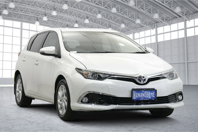 Used Toyota Corolla ZRE182R Ascent Sport S-CVT Victoria Park, 2016 Toyota Corolla ZRE182R Ascent Sport S-CVT White 7 Speed Constant Variable Hatchback