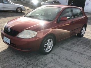 2003 Toyota Corolla ZZE122R Conquest Burgundy 4 Speed Automatic Hatchback