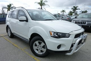 2012 Mitsubishi Outlander ZH MY12 LS White 6 Speed Constant Variable Wagon.