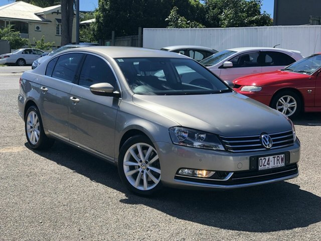 Used Volkswagen Passat Type 3C MY13.5 130TDI DSG Highline Chermside, 2013 Volkswagen Passat Type 3C MY13.5 130TDI DSG Highline Gold 6 Speed Sports Automatic Dual Clutch