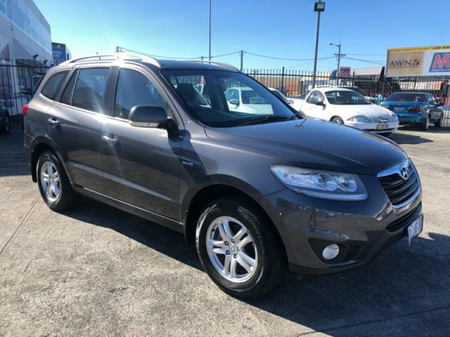 Used Hyundai Santa Fe CM MY11 Elite Derwent Park, 2011 Hyundai Santa Fe CM MY11 Elite Carbon Grey 6 Speed Sports Automatic Wagon