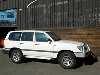 1998 Toyota Landcruiser HZJ105R GXL White 4 Speed Automatic Wagon.