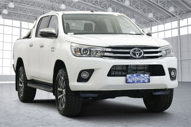 Used Toyota Hilux GUN126R SR5 Double Cab Victoria Park, 2017 Toyota Hilux GUN126R SR5 Double Cab White 6 Speed Sports Automatic Utility