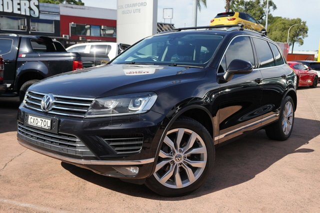 Used Volkswagen Touareg 7P MY14 V6 TDI 4Xmotion Brookvale, 2014 Volkswagen Touareg 7P MY14 V6 TDI 4Xmotion Black 8 Speed Automatic Wagon