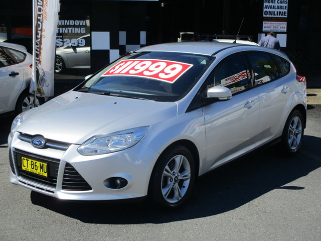 Used Ford Focus LW MK2 Trend Coffs Harbour, 2013 Ford Focus LW MK2 Trend Silver 6 Speed Automatic Hatchback