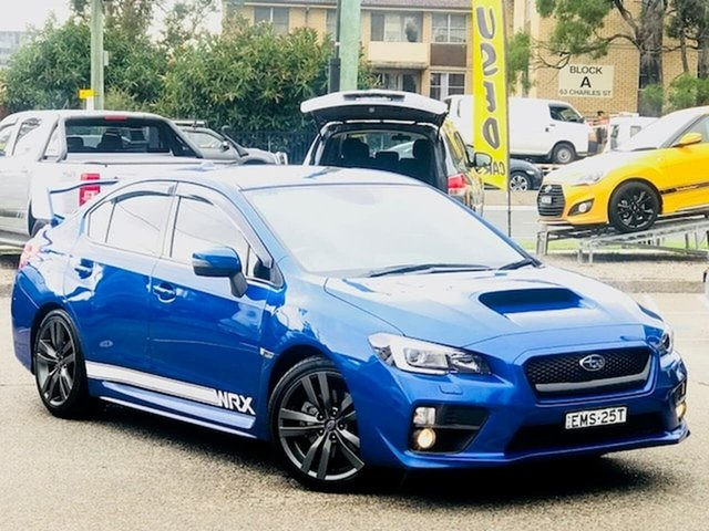 Used Subaru WRX V1 MY17 Premium Lineartronic AWD Liverpool, 2016 Subaru WRX V1 MY17 Premium Lineartronic AWD Blue 8 Speed Constant Variable Sedan