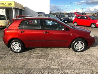 2003 Toyota Corolla ZZE122R Conquest Burgundy 4 Speed Automatic Hatchback.