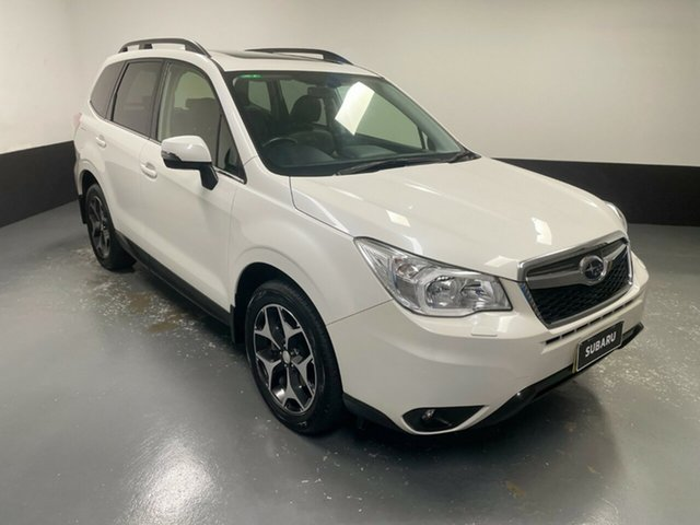 Used Subaru Forester S4 MY15 2.0D-S CVT AWD Rutherford, 2015 Subaru Forester S4 MY15 2.0D-S CVT AWD White 7 Speed Constant Variable Wagon