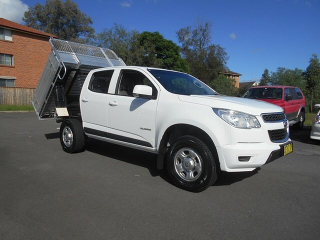 Used Holden Colorado RG MY15 LS (4x2) Bankstown, 2015 Holden Colorado RG MY15 LS (4x2) White 6 Speed Automatic Crew Cab Chassis