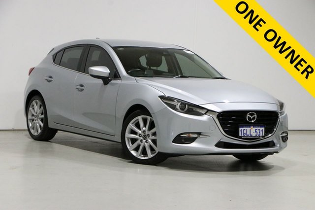 Used Mazda 3 BN MY17 SP25 GT Bentley, 2017 Mazda 3 BN MY17 SP25 GT Silver 6 Speed Automatic Hatchback