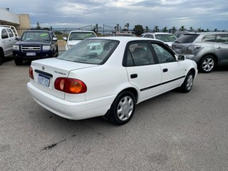 2001 Toyota Corolla AE112R Ascent White 5 Speed Manual Sedan