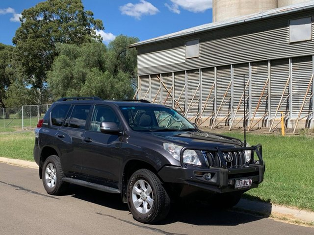 Pre-Owned Toyota Landcruiser Prado KDJ150R 11 Upgrade Altitude (4x4) Oakey, 2012 Toyota Landcruiser Prado KDJ150R 11 Upgrade Altitude (4x4) Graphite 5 Speed Sequential Auto
