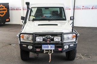2013 Toyota Landcruiser VDJ79R MY12 Update GXL (4x4) French Vanilla 5 Speed Manual Cab Chassis.