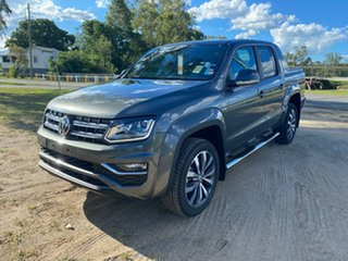 2020 Volkswagen Amarok 2H MY21 TDI580 4MOTION Perm Aventura Indium Grey 8 Speed Automatic Utility.
