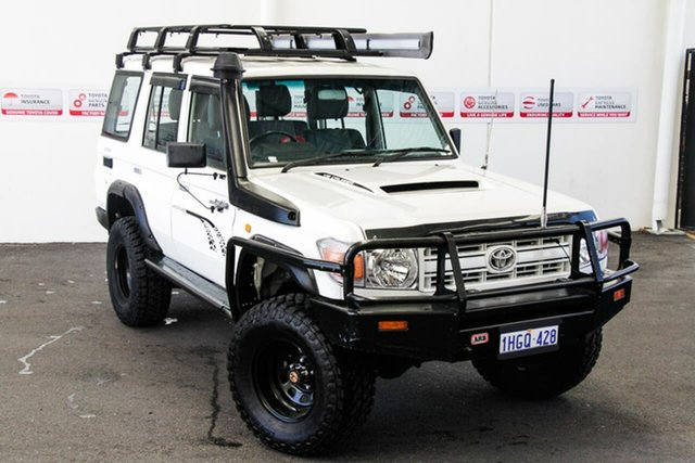 Pre-Owned Toyota Landcruiser VDJ76R Workmate (4x4) Myaree, 2008 Toyota Landcruiser VDJ76R Workmate (4x4) French Vanilla 5 Speed Manual Wagon