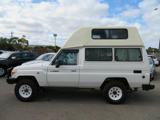 2012 Toyota Landcruiser VDJ78R MY12 Update Workmate (4x4) 3 Seat White 5 Speed Manual TroopCarrier.