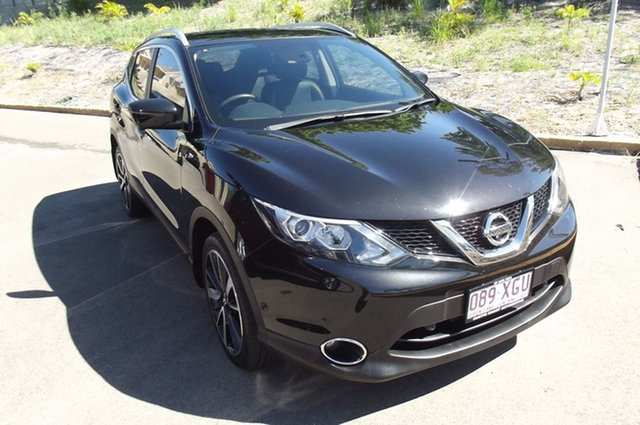 Used Nissan Qashqai J11 TI South Gladstone, 2016 Nissan Qashqai J11 TI Black 1 Speed Constant Variable Wagon