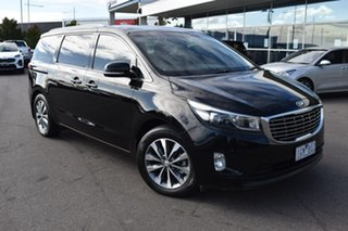 2016 Kia Carnival YP MY16 SLi Black 6 Speed Sports Automatic Wagon.