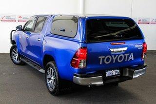 2016 Toyota Hilux GUN126R SR5 (4x4) Nebula Blue 6 Speed Automatic Dual Cab Utility