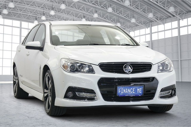 Used Holden Commodore VF MY15 SV6 Storm Victoria Park, 2015 Holden Commodore VF MY15 SV6 Storm White 6 Speed Sports Automatic Sedan
