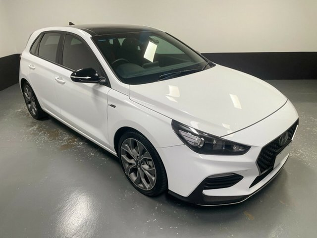 Used Hyundai i30 PD.3 MY20 N Line D-CT Cardiff, 2020 Hyundai i30 PD.3 MY20 N Line D-CT White 7 Speed Sports Automatic Dual Clutch Hatchback