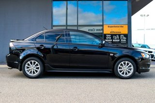 2010 Mitsubishi Lancer CJ MY11 ES Black 6 Speed Constant Variable Sedan.