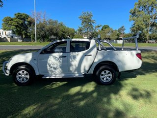2010 Mitsubishi Triton MN MY10 GL-R Double Cab 4x2 White 5 Speed Manual Utility