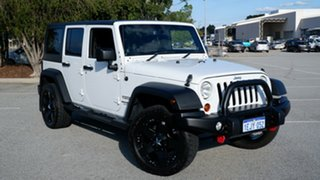 2013 Jeep Wrangler JK MY2014 Unlimited Sport White 5 Speed Automatic Softtop.