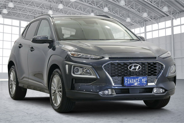 Used Hyundai Kona OS.3 MY20 Elite D-CT AWD Victoria Park, 2020 Hyundai Kona OS.3 MY20 Elite D-CT AWD Grey 7 Speed Sports Automatic Dual Clutch Wagon
