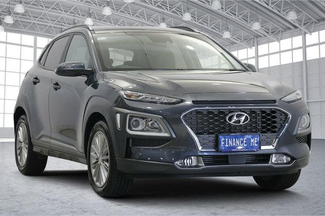 Used Hyundai Kona OS.3 MY20 Elite D-CT AWD Victoria Park, 2020 Hyundai Kona OS.3 MY20 Elite D-CT AWD Grey 7 Speed Sports Automatic Dual Clutch Wagon