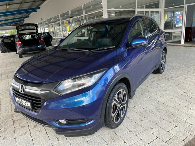 Used Honda HR-V VTi-L Taree, 2016 Honda HR-V VTi-L Morpho Blue Constant Variable Hatchback
