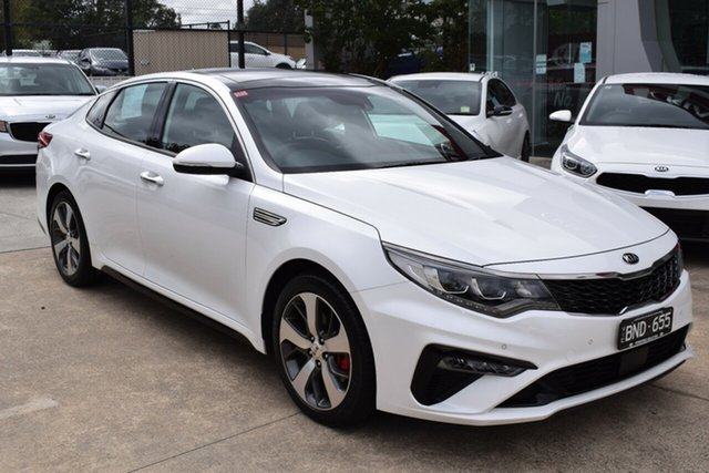Used Kia Optima JF MY20 GT Ferntree Gully, 2019 Kia Optima JF MY20 GT Snow White 6 Speed Sports Automatic Sedan