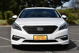 2016 Hyundai Sonata LF MY16 Elite White 6 Speed Sports Automatic Sedan.