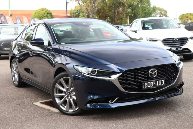 Demo Mazda 3 BP2S7A G20 SKYACTIV-Drive Touring South Melbourne, 2021 Mazda 3 BP2S7A G20 SKYACTIV-Drive Touring Deep Crystal Blue 6 Speed Sports Automatic Sedan