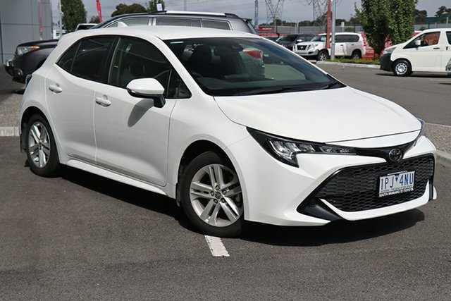 Pre-Owned Toyota Corolla Mzea12R Ascent Sport i-MT South Morang, 2019 Toyota Corolla Mzea12R Ascent Sport i-MT Glacier White 6 Speed Manual Hatchback