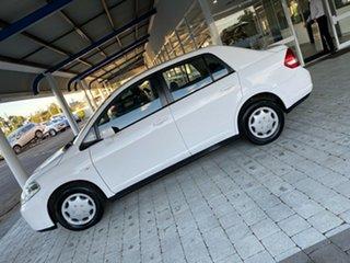 2011 Nissan Tiida C11 Series 3 MY ST White 4 Speed Automatic Hatchback