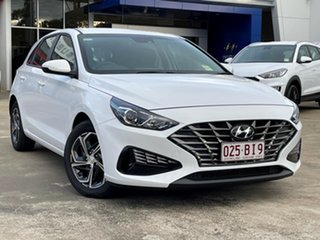 2021 Hyundai i30 PD.V4 MY21 Polar White 6 Speed Manual Hatchback.