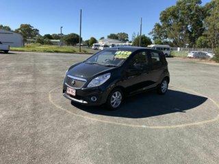 2010 Holden Barina Spark MJ MY11 CD Black 5 Speed Manual Hatchback.