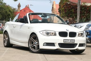 2013 BMW 120i E88 MY13 Update White 6 Speed Automatic Convertible.