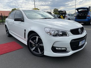 2016 Holden Commodore VF II MY16 SV6 Black Heron White 6 Speed Sports Automatic Sedan.