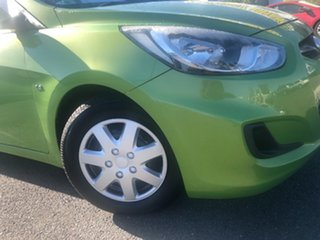 2011 Hyundai Accent RB Active Green 4 Speed Sports Automatic Hatchback