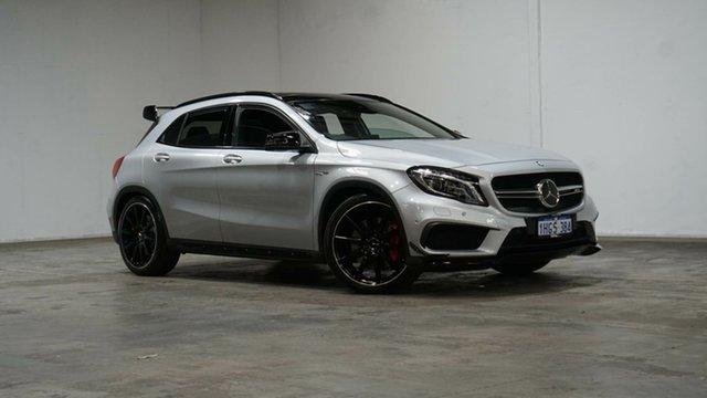 Used Mercedes-Benz GLA-Class X156 807MY GLA45 AMG SPEEDSHIFT DCT 4MATIC Welshpool, 2017 Mercedes-Benz GLA-Class X156 807MY GLA45 AMG SPEEDSHIFT DCT 4MATIC Polar Silver 7 Speed