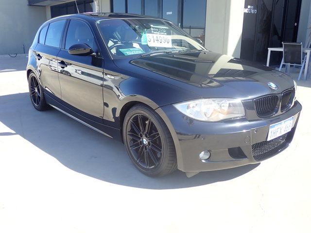 Used BMW 123d E87 MY11 Wangara, 2011 BMW 123d E87 MY11 Black Magic 6 Speed Automatic Hatchback