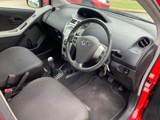 2008 Toyota Yaris NCP91R 08 Upgrade YRS Red 5 Speed Manual Hatchback