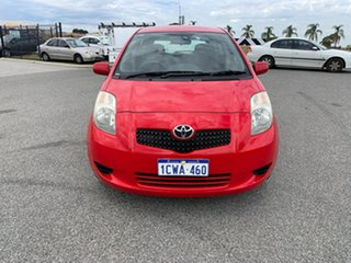 2008 Toyota Yaris NCP91R 08 Upgrade YRS Red 5 Speed Manual Hatchback.