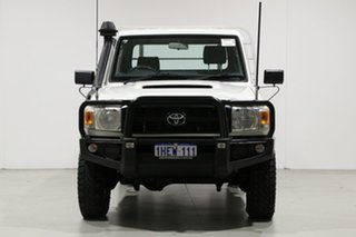 2012 Toyota Landcruiser VDJ79R 09 Upgrade Workmate (4x4) White 5 Speed Manual Cab Chassis