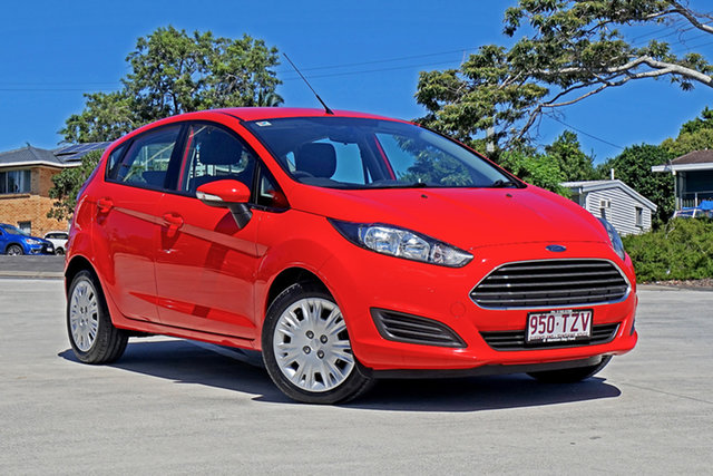 Used Ford Fiesta WZ Ambiente Capalaba, 2014 Ford Fiesta WZ Ambiente True Red/c 5 Speed Manual Hatchback