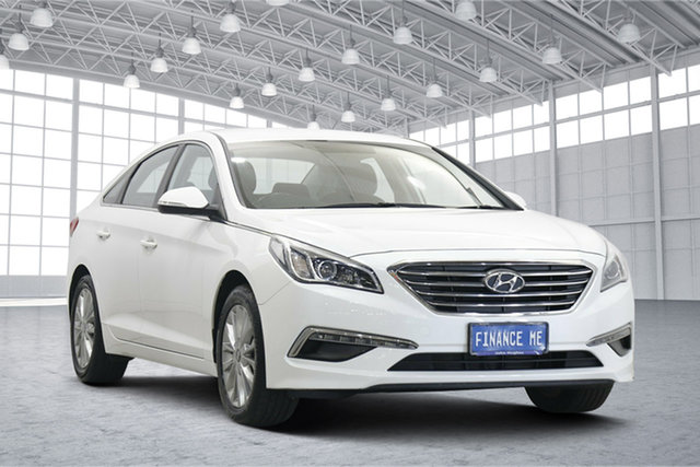 Used Hyundai Sonata LF2 MY16 Active Victoria Park, 2016 Hyundai Sonata LF2 MY16 Active White 6 Speed Sports Automatic Sedan