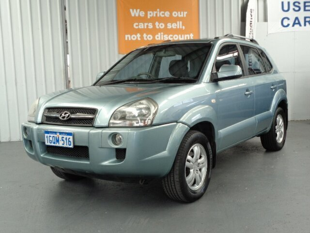 Used Hyundai Tucson JM MY09 SX Rockingham, 2008 Hyundai Tucson JM MY09 SX Blue 4 Speed Sports Automatic Wagon